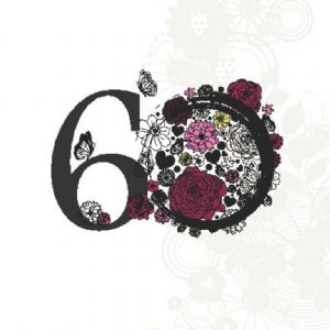 Age 60 Elegant Birthday Card TW135